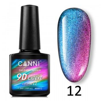 Canni, 9D Кошачий глаз (7,3 мл.) №12