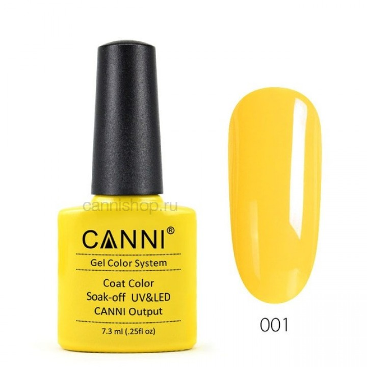 Canni, Гель-лак №001 (7,3 мл.)