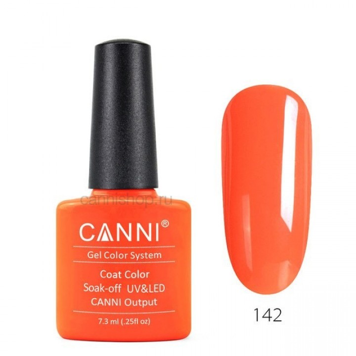 Canni, Гель-лак №142 (7,3 мл.)