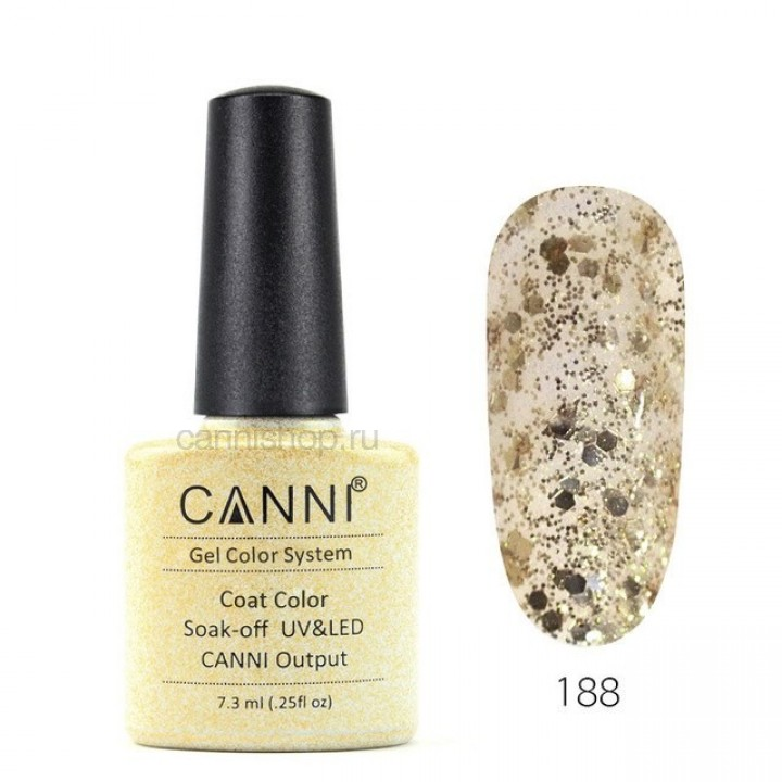 Canni, Гель-лак №188 (7,3 мл.)