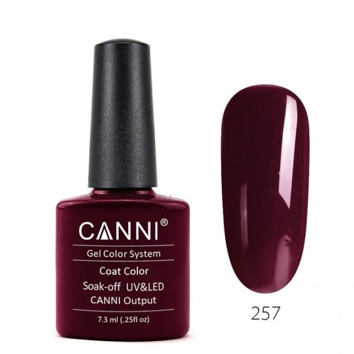 Canni, Гель-лак №257 (7,3 мл.)