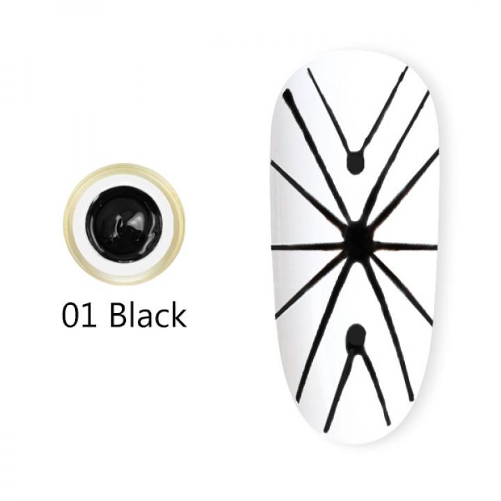 Canni, Гель-паутинка (8 мл) №1 черный