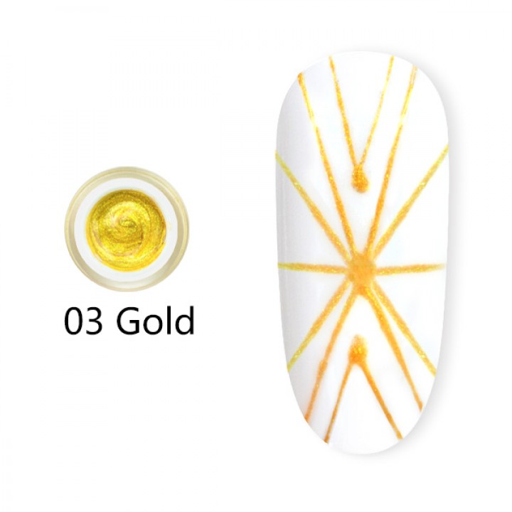Canni, Гель-паутинка (8 мл) №3 золото
