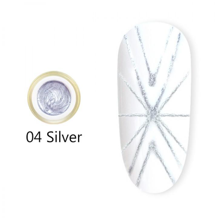 Canni, Гель-паутинка (8 мл) №4 серебро