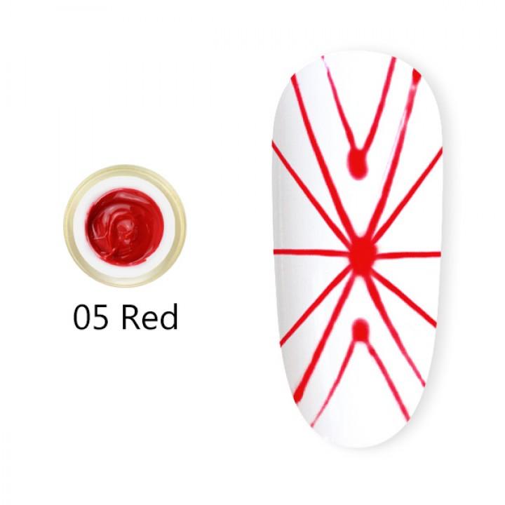 Canni, Гель-паутинка (8 мл) №5 красный