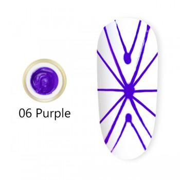 Canni, Гель-паутинка (8 мл) №6 фиолетовый