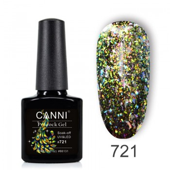 Canni, Гель-лак Павлин № 721