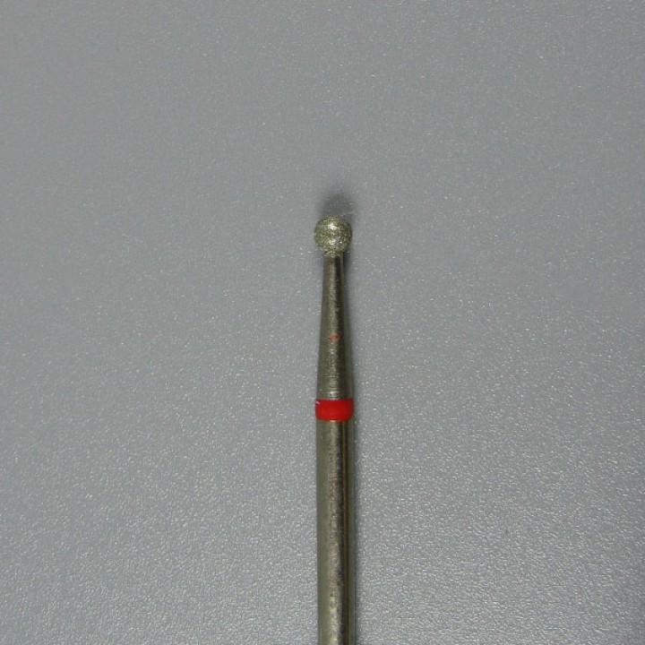 Фреза алмазная сферическая красная 23 мм